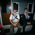 Captains Lukowski and Coynes in a quiet moment while riding out to meet the MSC Valeria.