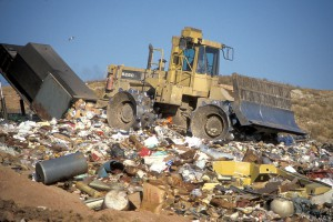 Lots of garbage is shipped to China.